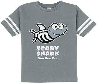 Scary Shark Doo doo doo Song Funny Halloween Toddler Jersey T-Shirt