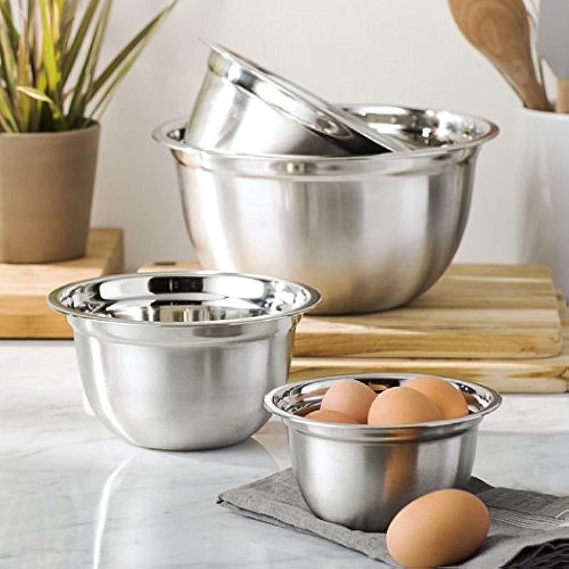Wayfair Basics Oven Safe Stainless Steel Mixing Bowl Set 4 Piece