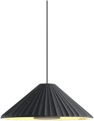 Lampadario a sospensione LED 4W 2700K 700LM in ceramica con effetto tessile di grande delicatezza modello Pu-Erh 21 colore nero e oro 21 x 21 x 8,5 centimetri (riferimento: A684-026)