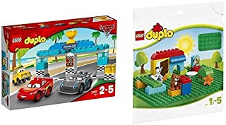レゴ (LEGO) デュプロ ディズニー カーズ ピストンカップレース 10857 & デュプロ 基礎板(緑) 2304