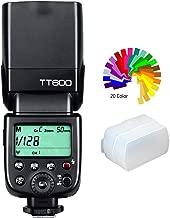Godox TT600 Flash Speedlite para cámara con transmisión inalámbrica de 2,4 G integrada Compatible con Canon, Nikon, Pentax, Olympus y Otras cámaras Digitales con Zapata y difusor estándar