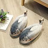 N / A Schöne NewWinter Animal Funny Shark Schuhe Form Pelz Hausschuhe ShallowsIndoor Jungen...