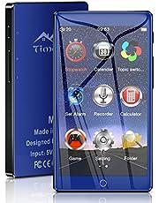 """Timoom M7 Lettore MP3 Bluetooth 5.0 Full Touch Schermo da 4.0 """" 16GB MP4 HIFI Suono senza perdita con altoparlante integrato Radio FM Registratore video/vocale Cuffie e-book Supporta TF fino a 128 GB"""