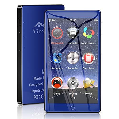 Timoom M7 MP3-Player Bluetooth 16 GB mit 4.0 Touchscreen FM-Radio E-Book Video Datei Foto BT5.0 MP4-Player Unterstützung Erweiterbar auf bis zu 128 G.