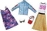 Mattel Chick & Jeans | 2 Moda Set | Barbie FKT38 | Ropa de la Muñeca