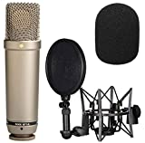 Rode NT1-A - Juego de micrófonos para grabación vocal y protección contra el viento (espuma WS2)