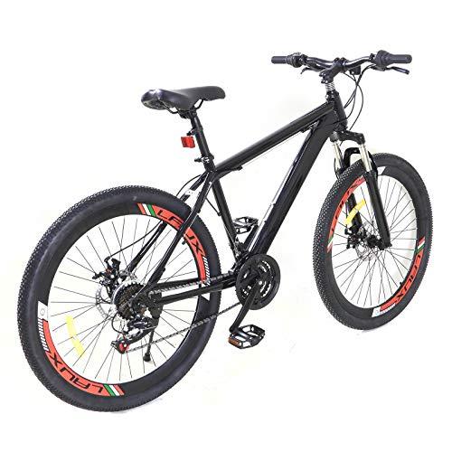 Bicicleta de montaña de 26 pulgadas, unisex, 21 velocidades, para adultos y jóvenes, para exteriores, para niños, niñas, hombres y mujeres, cambio de 21 velocidades
