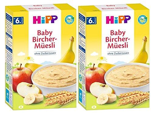 Hipp biologische granen pap Good Morning pap Bircher Muesli, 2-pack (2 x 250 g)