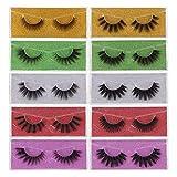 False Eyelashes 10 Pairs - Professional Reusable 3D Mink Lashes - Natural Thick Fluffy Fake Eyelashes Faux Mink Eyelashes (10 Styles)