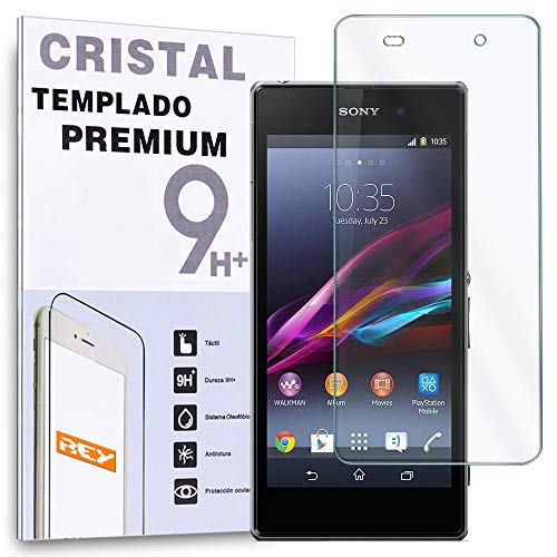 REY Protector de Pantalla para Sony Xperia Z2 Cristal Vidrio Templado Premium