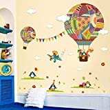 Hot Air Balloon Wall Sticker by Lisdripe