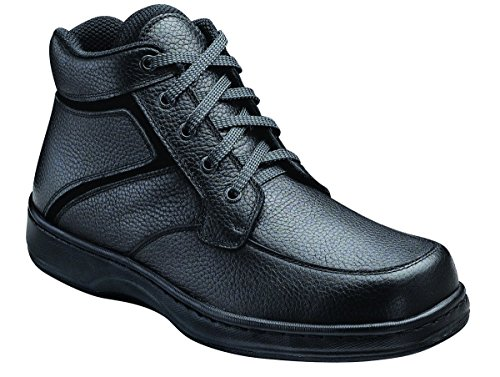 Orthofeet 481 Men's Comfort Diabetic Therapeutic Extra Depth Boot: Black 12 Wide (2E) Lace
