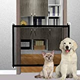 Pet Gate Baby Gate, LIUMY Indoor Outdoor Retractable Dog Gate, with Portable Folding Mesh Safety Gate, for The...