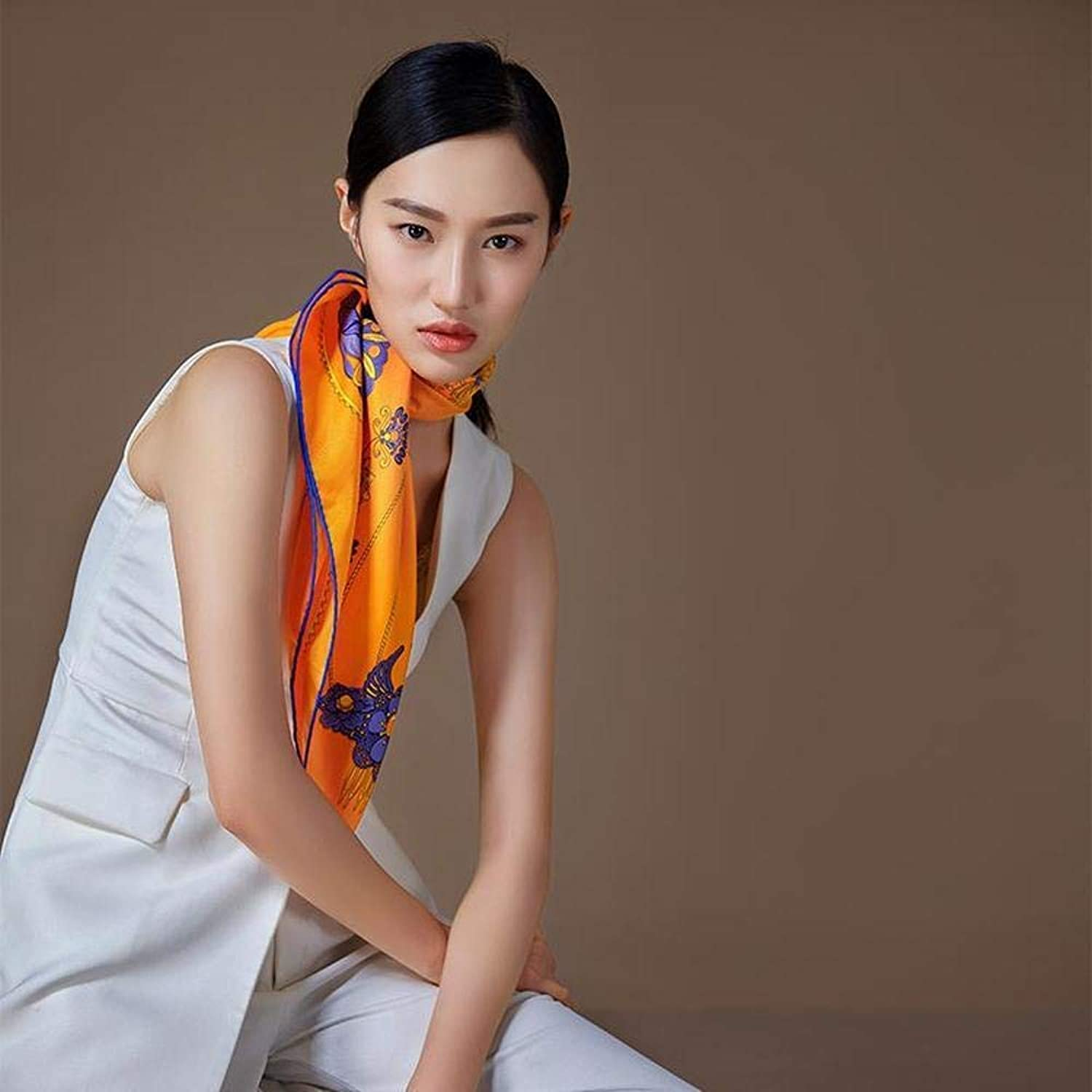Paioup Ladies silk shawl Silk scarf Send friends and family Light and breathable Perfectly expresses unique temperament