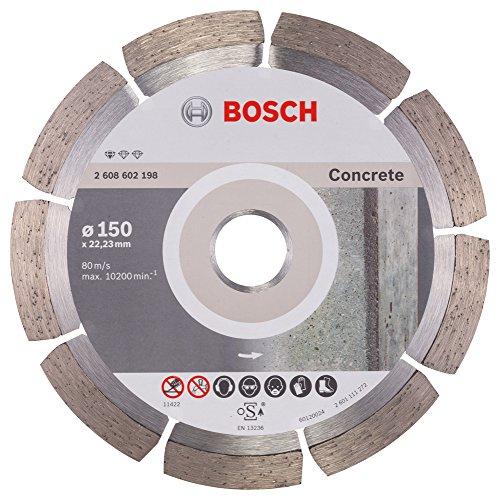 Bosch Professional Diamanttrennscheibe Standard für Concrete, 150 x 22,23 x 2 x 10 mm, 1-er Pack, 2608602198