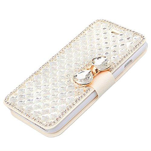 Binglinghua Bling Crystal Diamond - Funda de piel sintética para iPhone (iPhone 6/6S)