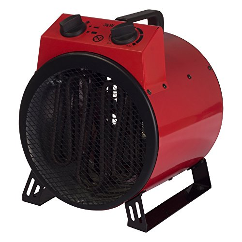 Igenix IG9301 Industrial/Commercial Drum Fan Heater with 2 Heat Settings and Cooling Fan Setting, Integrated Carry…