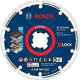 Bosch Professional 1 x Discos de corte de diamante Expert Diamond Metal Wheel X-LOCK, para Hierro fundido, 125 mm, Accesorios Amoladora pequeña
