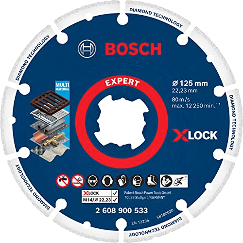 Bosch Professional 1x Expert Diamond Metal Wheel X-LOCK Trennscheiben (für Gusseisen, Ø 125 mm, Zubehör Kleiner Winkelschleifer)