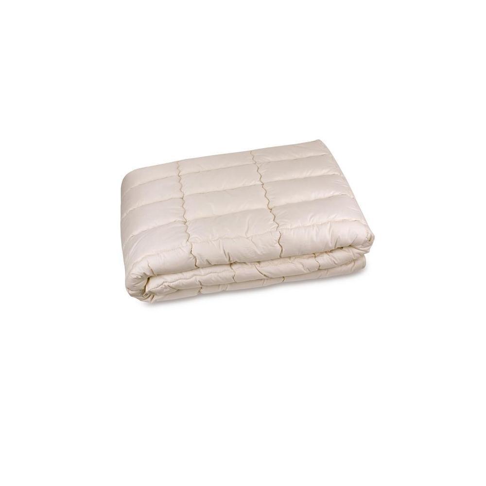 Algodón orgánico y cáñamo colchón GOTS orgánico de la almohadilla, tela, beige, doble: Amazon.es: Hogar