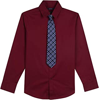 Boys' Long Sleeve Dress Shirt with Tie