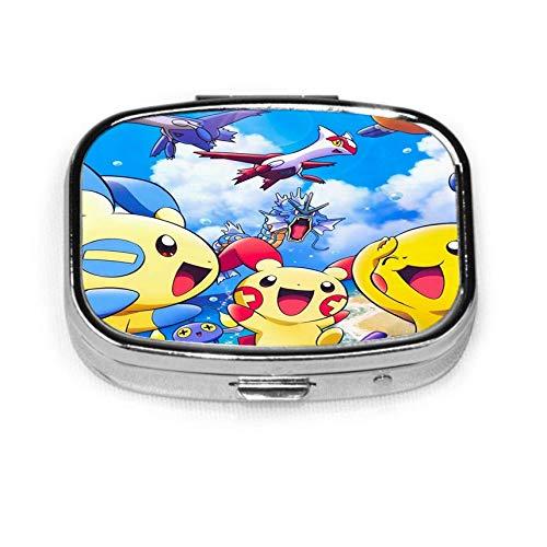 P-ikachu Pill Box Caja decorativa personalizada Soporte para tableta para bolsillo