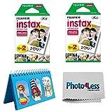 Fujifilm Instax Mini Instant Film 2X (40 Sheets) + Album for Fuji Instax Photos – Instant Film Accessory Bundle