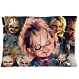 Chucky y su novia Custom Rectángulo con cremallera ropa de cama fundas de almohada manta funda de al...