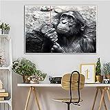 KWzEQ Imprimir en Lienzo Lindo Mono Pared Arte Imagen Obra onhome decoración Sala de estar30x45cmPintura sin Marco