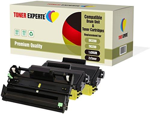 Kit 3 TONER EXPERTE® DR3200 Tamburo & TN3280 2 Toner compatibili per Brother HL-5340D HL-5350DN HL-5350DNLT HL-5370DW HL-5380DN DCP-8070D DCP-8085DN MFC-8370DN MFC- 8380DN MFC-8880DN MFC-8890DW