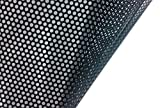VViViD One-Way Perforated Black Vinyl Privacy Window Film Adhesive Glass Wrap Roll (2ft x 48 inches)