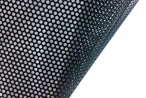 VViViD One-Way Perforated Black Vinyl Privacy Window Film Adhesive Glass Wrap Roll (1ft x 48 inches)