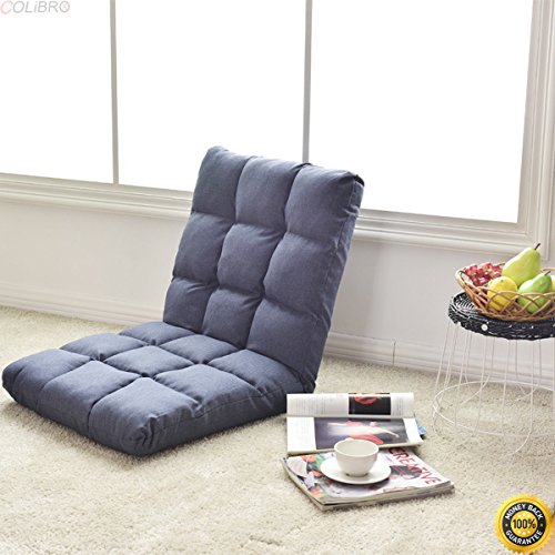 COLIBROX-Cushioned Floor Gaming Sofa Chair 14-Position Adjustable Folding Lazy Recliner,relaxing sofa chair,foldable lazy chair,floor chair,lazy sofa chair,best relaxing couch