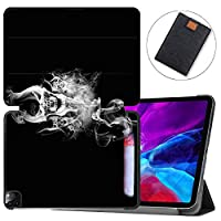 """MAITTAO Smart Cover for iPad Pro 12.9-inch Case 2020 4th Gen, Leather Folio Stand Protective Shell with Auto Sleep/Wake Compatible with Apple iPad 12.9"""" 2020 A2229 / A2233,Abstract Skeleton 4"""