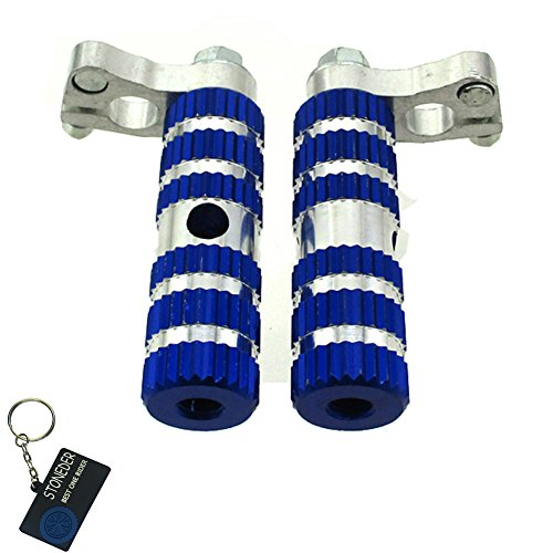 stoneder aluminio azul Racing footpegs reposapiés Pegs para más chino 2Stroke 47cc 49cc Mini Moto Pocket Bike mta1MTA2