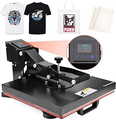 Seeutek Heat Press Machine 15x15 inch Industrial Digital Heat Transfer Printing Machine Clamshell Sublimation for T Shirts