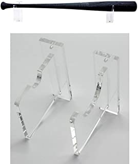 Top Stage Clear Acrylic Baseball Bat Rack Display Shelf Holder Wall Mount