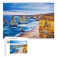海のビーチの風景 500ピースのパズル木製パズル大人の贈り物子供の誕生日プレゼント1000ピースのパズル