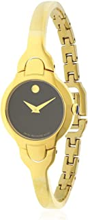 black and gold movado women's watch