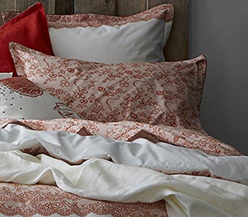 Essix - Taie d'oreiller Récital Percale de Coton Cuivre 50 x 70 cm