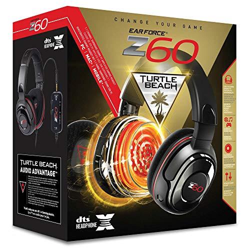 Turtle Beach Ear Force Z60 Auricular con micrófono Binaural Diadema Negro, Rojo - Auriculares con...