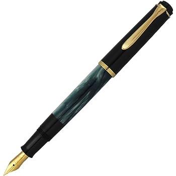 ペリカン 万年筆 EF 極細字 マーブルグリーン クラシック M200 吸入式 正規輸入品