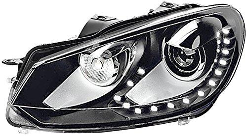 Hella Bi-Xenon koplampen VW Golf 6 rechts. Bi-Xenon/mit LED Tagfahrlicht chroom/zwart.