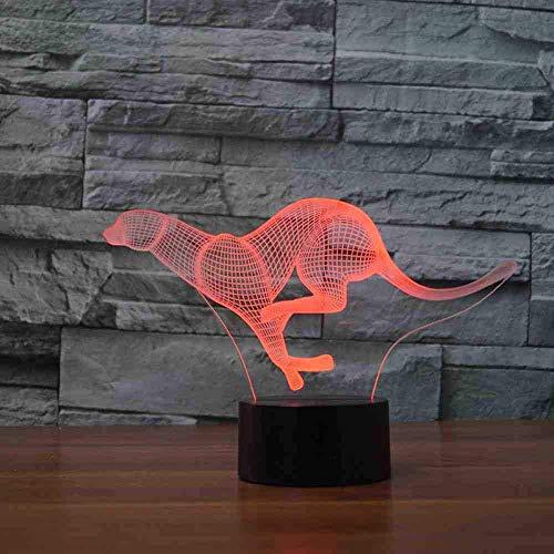 Led-tijgerlamp, 7 kleuren, wisselende kleuren, voor kinderen, nachtkastje, lampje, 3D, tijger, luipaard, tafel, lamp, bureau, lamp, cadeaus, slaapkamer, decoratie