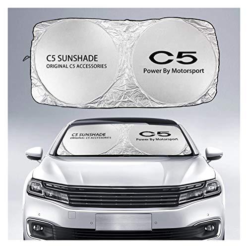 Parasol Coche Cubierta de la sombra del sol del parabrisas del automóvil compatible con Citroen C5 2.3 3.0 1.6T 1.8T 350 PHOT 360THP CVVT AIRCROSS SUV Accesorios anti UV Reflector Cortina de malla par