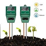 YEESON 2pcs Soil Ph Meter, 3-in-1 Soil Test Kit for Moisture, Light