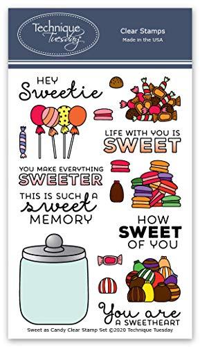 Sweet as Candy Stempel-Set – Candy Jar Photopolymer Stempel | Macaron Clear Rubber Stamps | Kartenherstellung Supplies | Scrapbooking Supplies