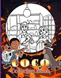 Coco Coloring Book: Crayola Coco Movie Coloring Books For Kids And Adults, (Unofficial High Quality)