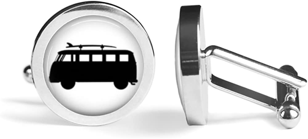 Surf Bus Free New product!! shipping on posting reviews Kombi Edition Angled Cufflinks