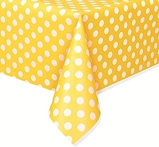Polka Dot Plastic Tablecloth, 108
